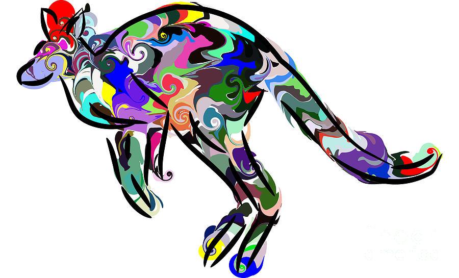 Kangaroo Digital Art - Kangaroo 2 by Chris Butler