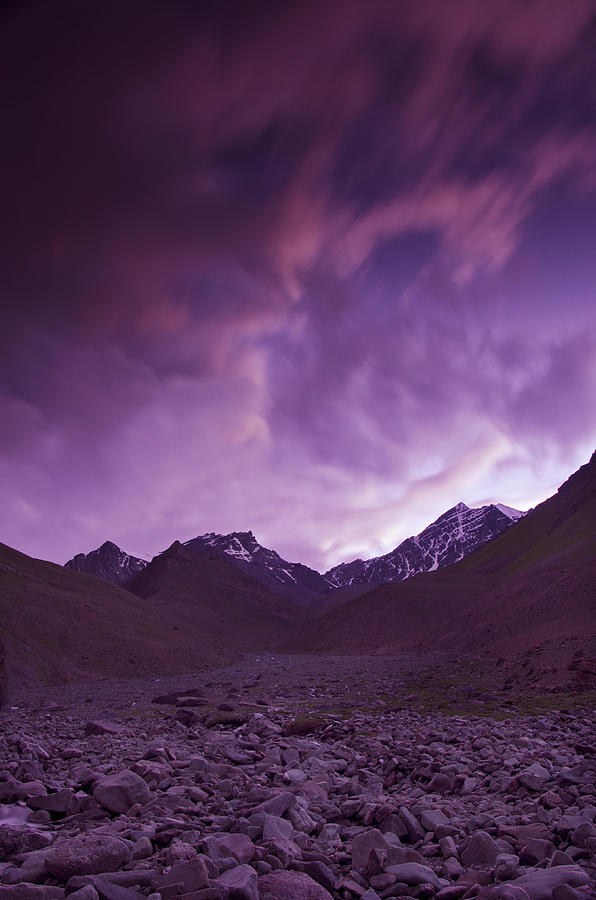 Mountains Photograph - Kangri Twilight by Aaron Bedell