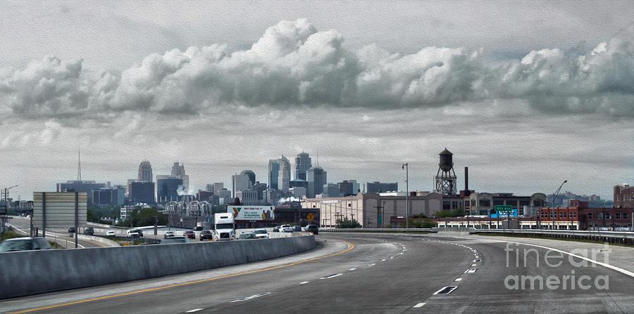 Kansas City Painting - Kansas City - 01 by Gregory Dyer
