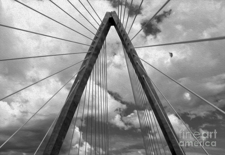 Architectural Detail Painting - Kansas City Bridge - 03 by Gregory Dyer