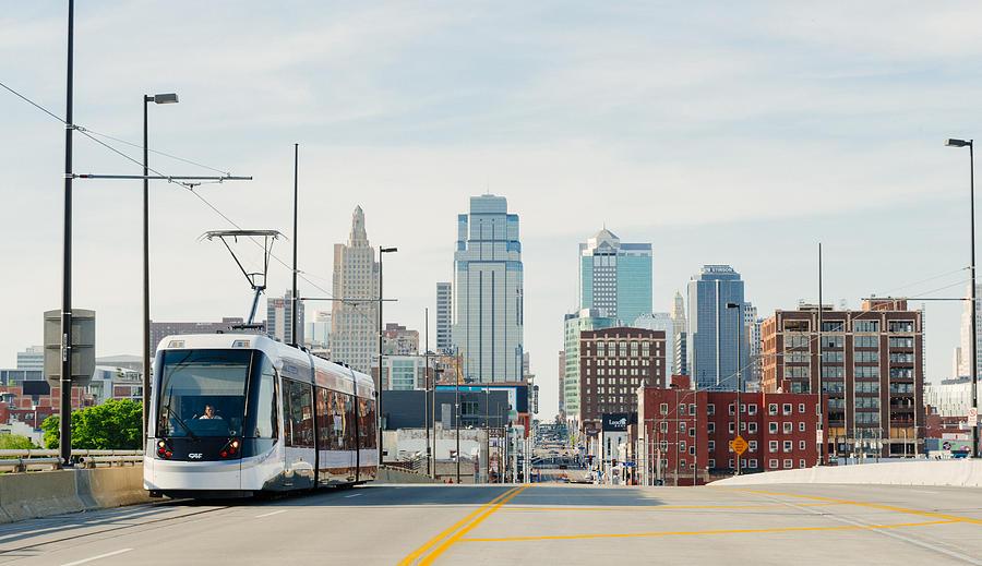 Kansas City Missouri Streetcar Downtown Line Provides Public Transportation USA Photograph by Lorraine Boogich