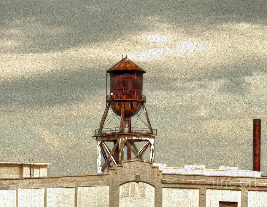 Kansas City Painting - Kansas City - Water Tower by Gregory Dyer