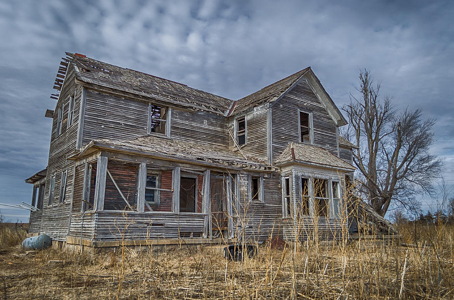 Kansas Farmhouse Photograph By Adam C Johnson