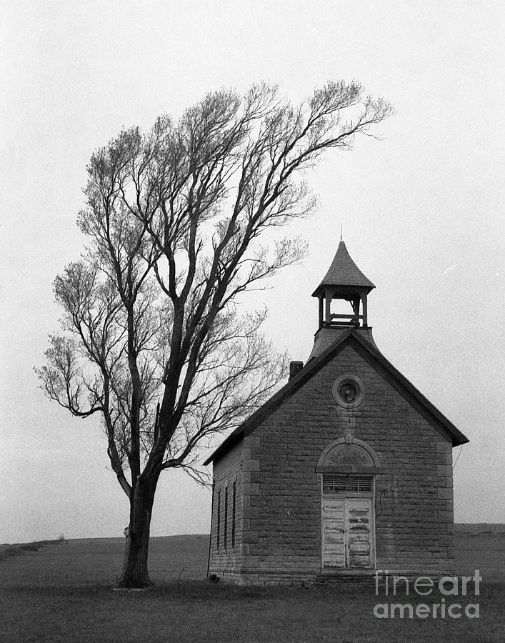 Kansas Photograph - Kansas Schoolhouse by Crystal Nederman