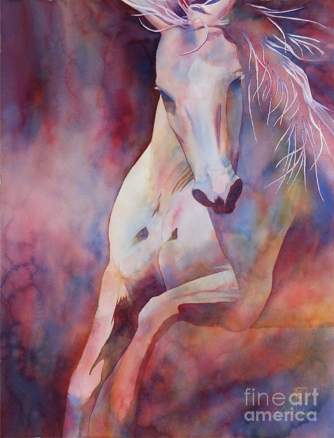 Watercolor Painting - Kanthaka by Robert Hooper