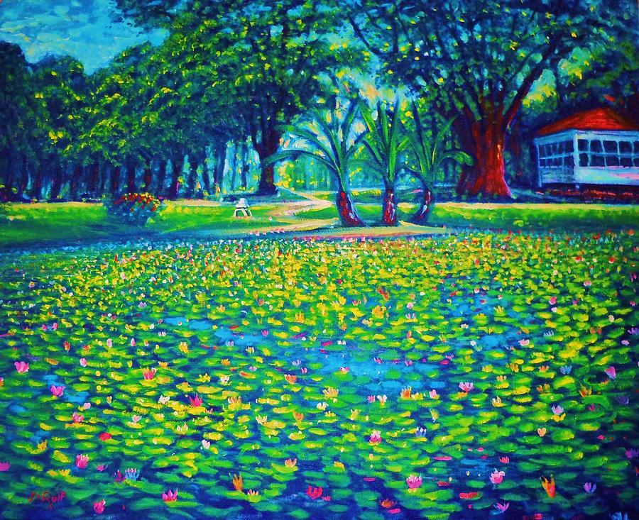 Kapiolani Park Circa 1933 Painting by Joseph   Ruff