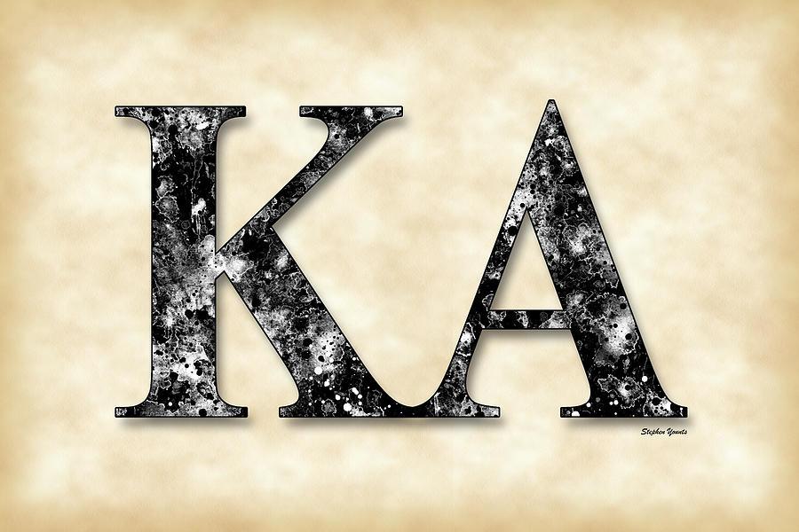 Kappa Alpha Society Digital Art - Kappa Alpha Society - Parchment by Stephen Younts