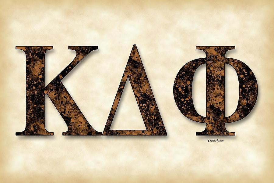 Kappa Delta Phi Digital Art - Kappa Delta Phi - Parchment by Stephen Younts