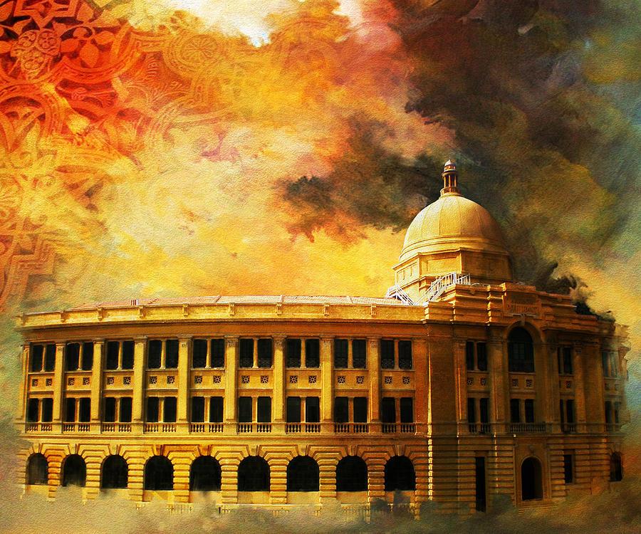 Pakistan Painting - Karachi Port by Catf