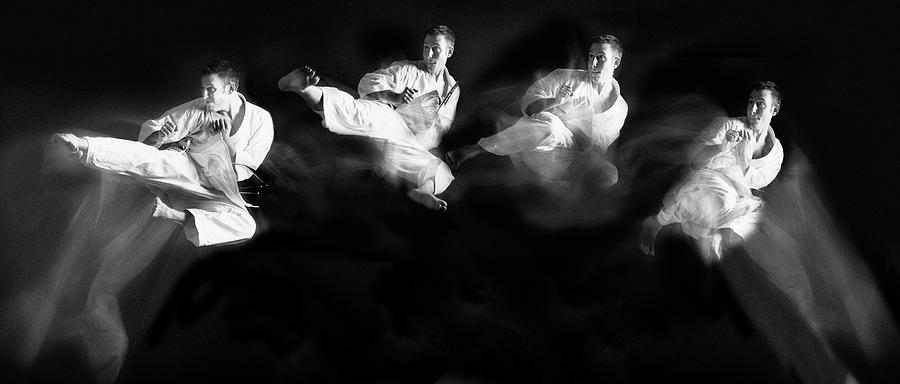 Action Photograph - Karate #1 by Hilde Ghesquiere
