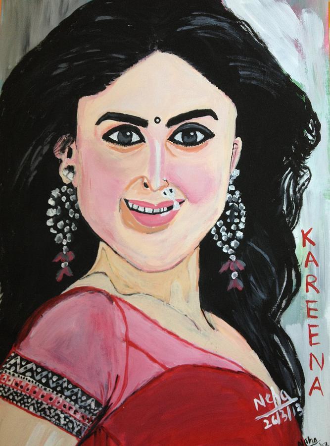Painting - Kareena Kapoor Bollywood Actres by Neha  Shah