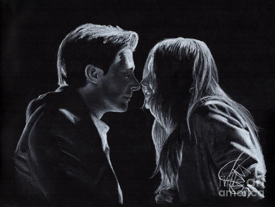 Karen Gillan Drawing - Karen Gillan And Arthur Darvill by Rosalinda Markle