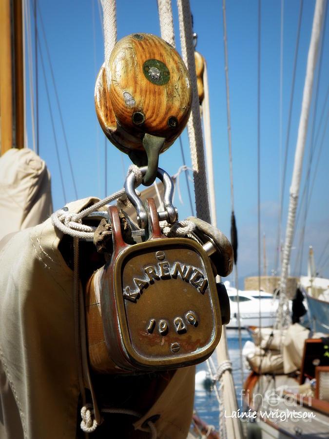 Sailing Photograph - Karenita 1929 by Lainie Wrightson
