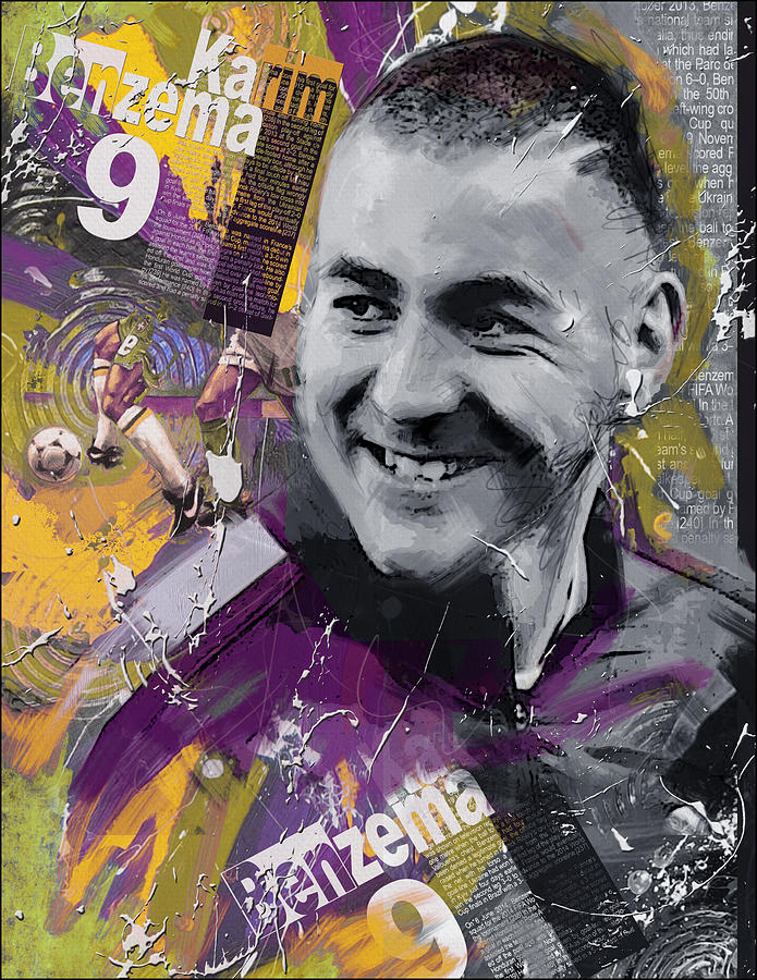 Benzema Painting - Karim Benzema - C by Corporate Art Task Force