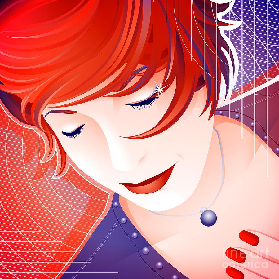 Woman Digital Art - Karin by Sandra Hoefer