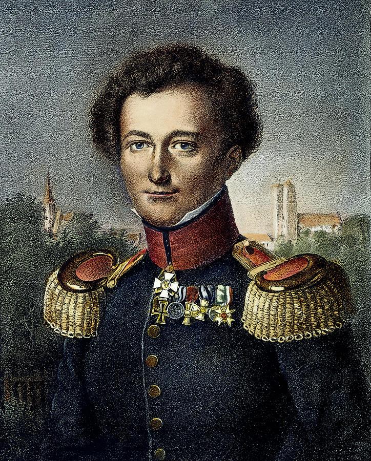 19th Century Painting - Karl Von Clausewitz (1780-1831) by Granger