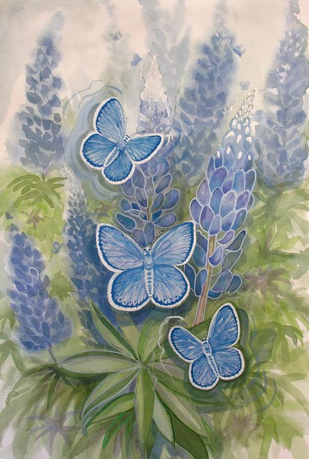 Karner Blue Painting - Karner Karma by Sherri Anderson