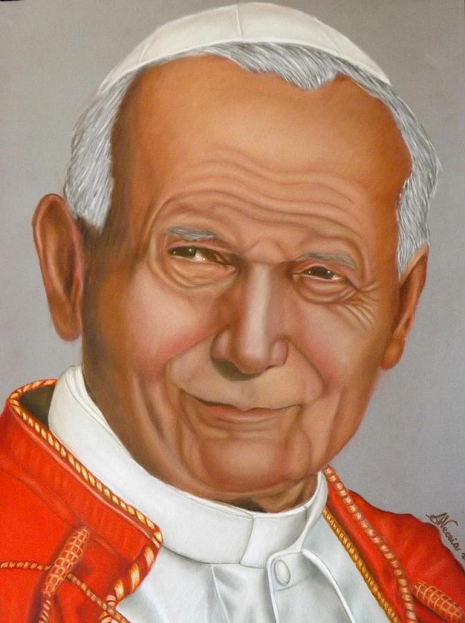 Pope Painting - Karol by Alessandra Veccia