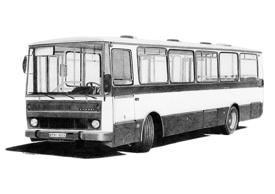 Bus Drawing - Karosa B731 by Milan Surkala