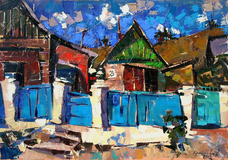 Oil On Canvas Painting - Karpaty-charleston. by Anastasija Kraineva