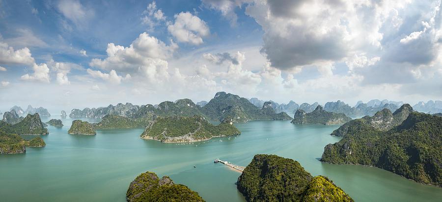 Karst Island Landscape In Halong Bay, Vietnam Photograph by Tbradford