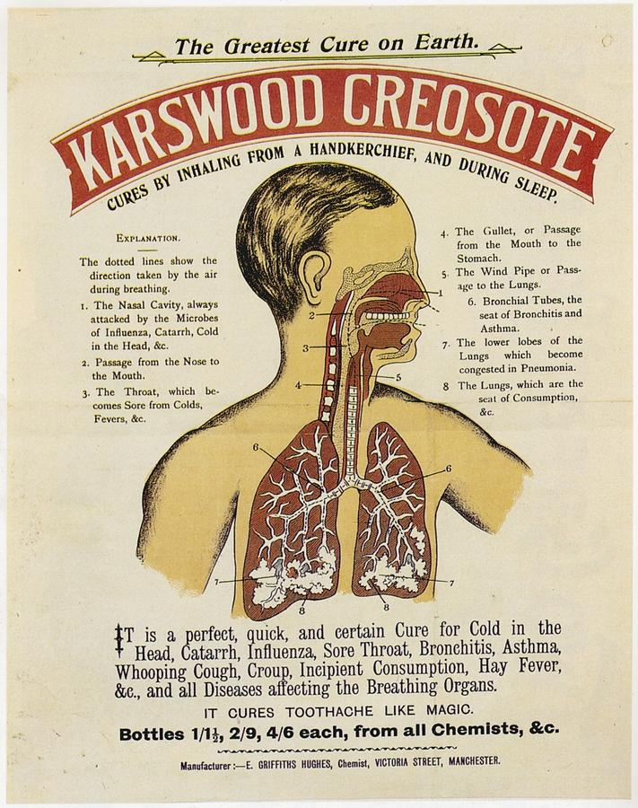 Karswood Creosote Medicine Vintage Ad by Gianfranco Weiss