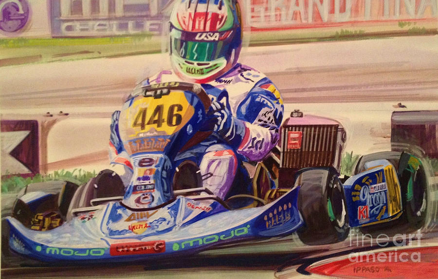 Karting World Championships Painting by Marco Ippaso