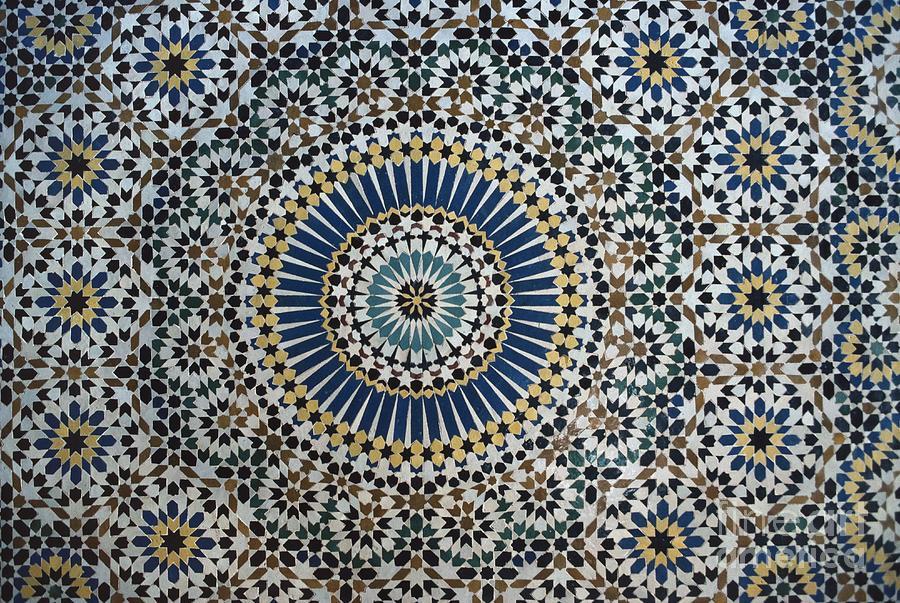 Kasbah Of Thamiel Glaoui Zellij Tilework Detail Ceramic
