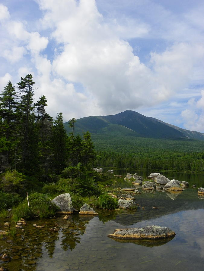 Mountain Photograph - Katahdin From Sandy Stream Pond by Georgia Hamlin