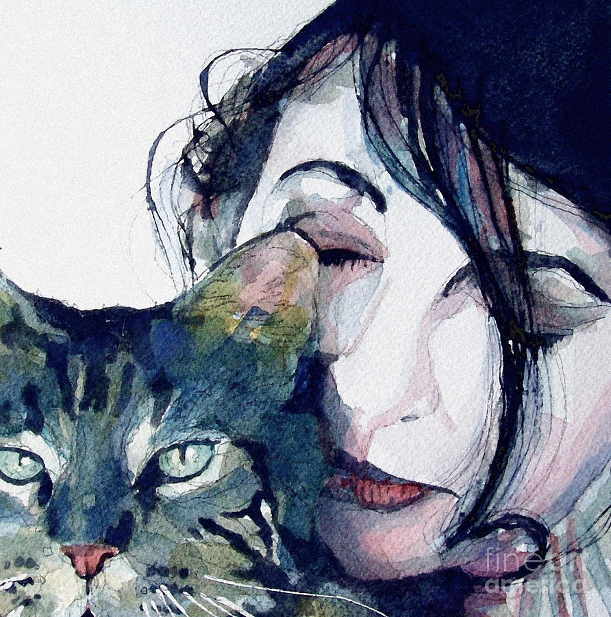 Kate Bush Painting - Kate And Her Cat by Paul Lovering