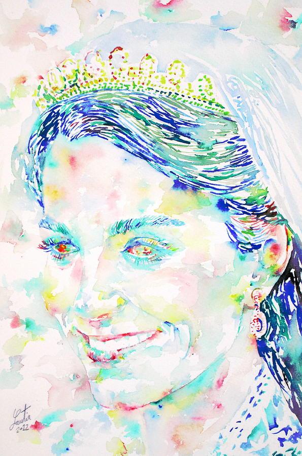 Kate Painting - Kate Middleton Portrait.2 by Fabrizio Cassetta