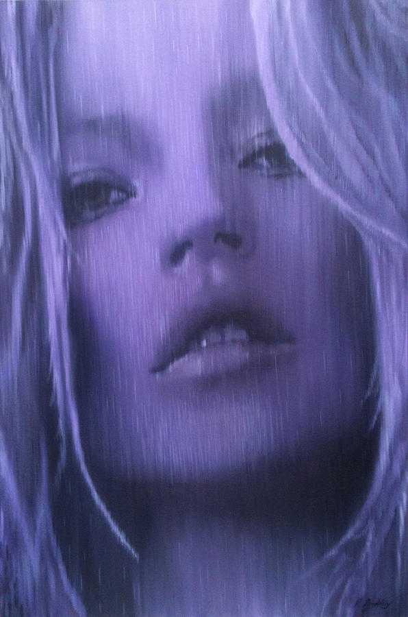 Portrait Painting - Kate Moss by Renate Buckley