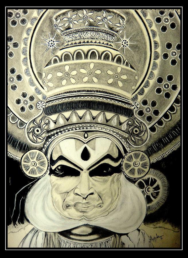 Kathakali Dancer Drawing By Aninda Dey
