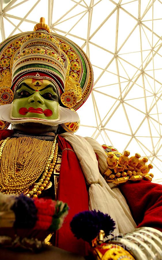 Temple Photograph - Kathakali by Vineesh Edakkara