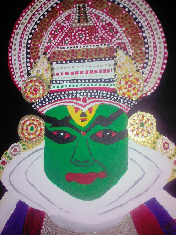 Kathakkali Painting by Neha  Shah