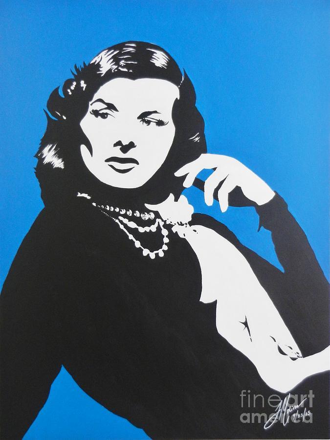 Katharine Hepburn Painting - Katharine Hepburn  by Juan Molina