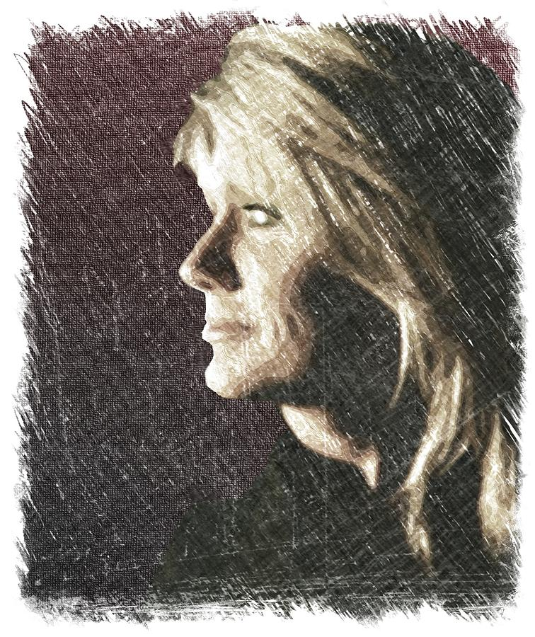 Kathi In Profile Drawing by Michael Pittas