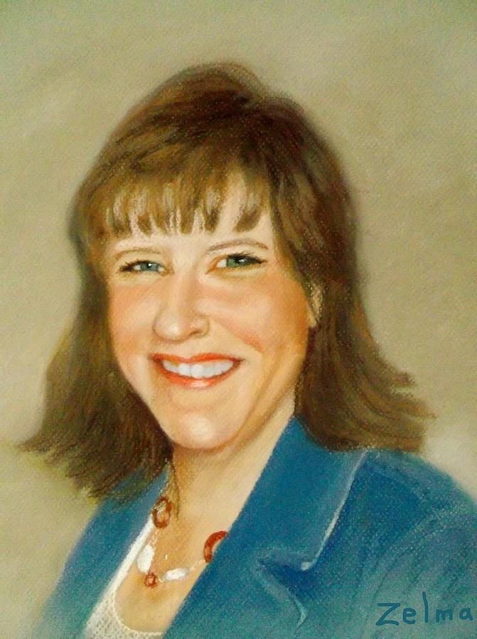 Pastel Portrait Painting - Kathleen by Zelma Hensel