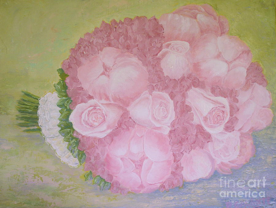Bouquet Painting - Katies Wedding Bouquet by Paul Galante