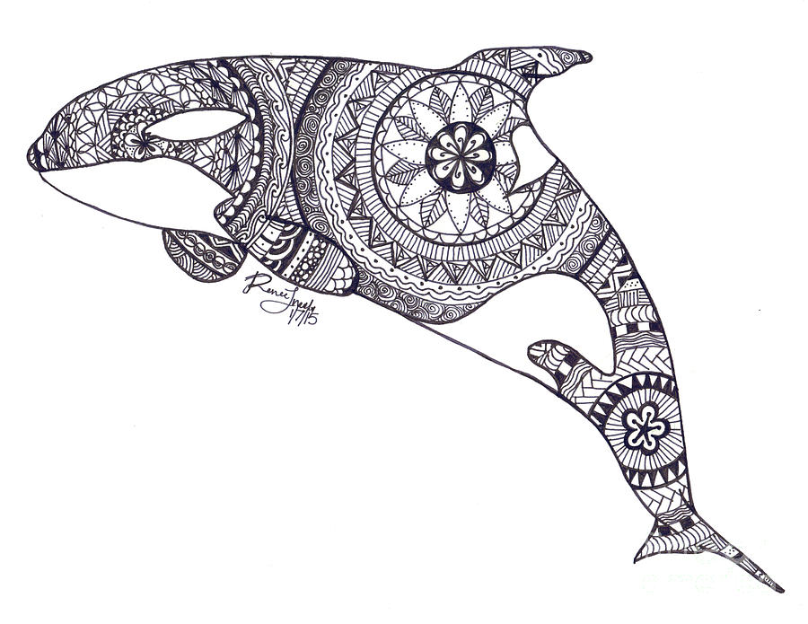 Katina Henna Zentangle Drawing By Renee Van Ineveld