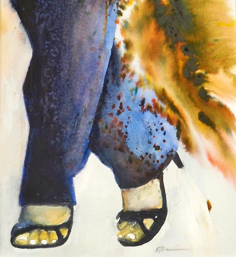 Katja Painting by Ed  Heaton