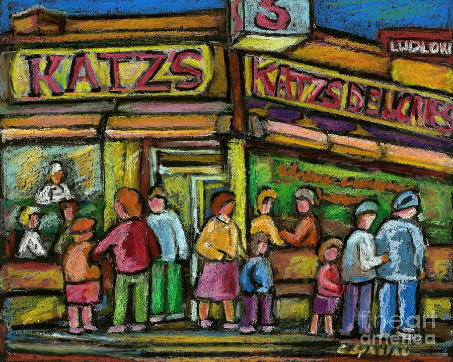 Katz's Deli Painting - Katzs Deli by Carole Spandau