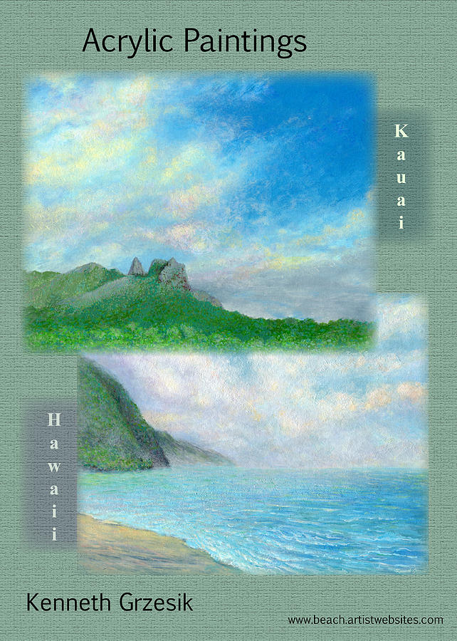 Tropical Interior Design Photograph - Kauai Painting Poster 2 by Kenneth Grzesik