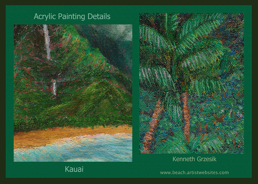 Tropical Interior Design Photograph - Kauai Painting Poster 3 by Kenneth Grzesik