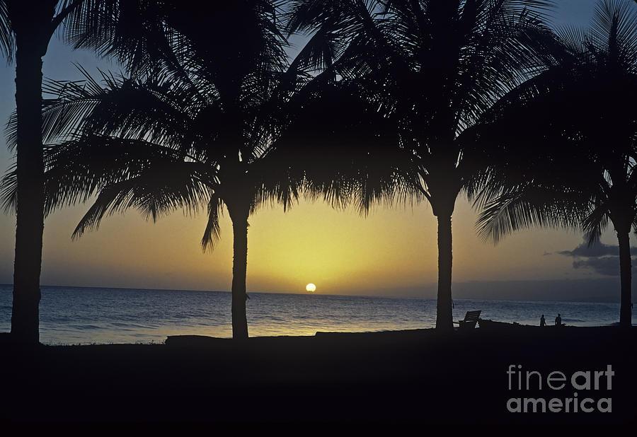 America Photograph - Kauai Sunset by Howard Stapleton