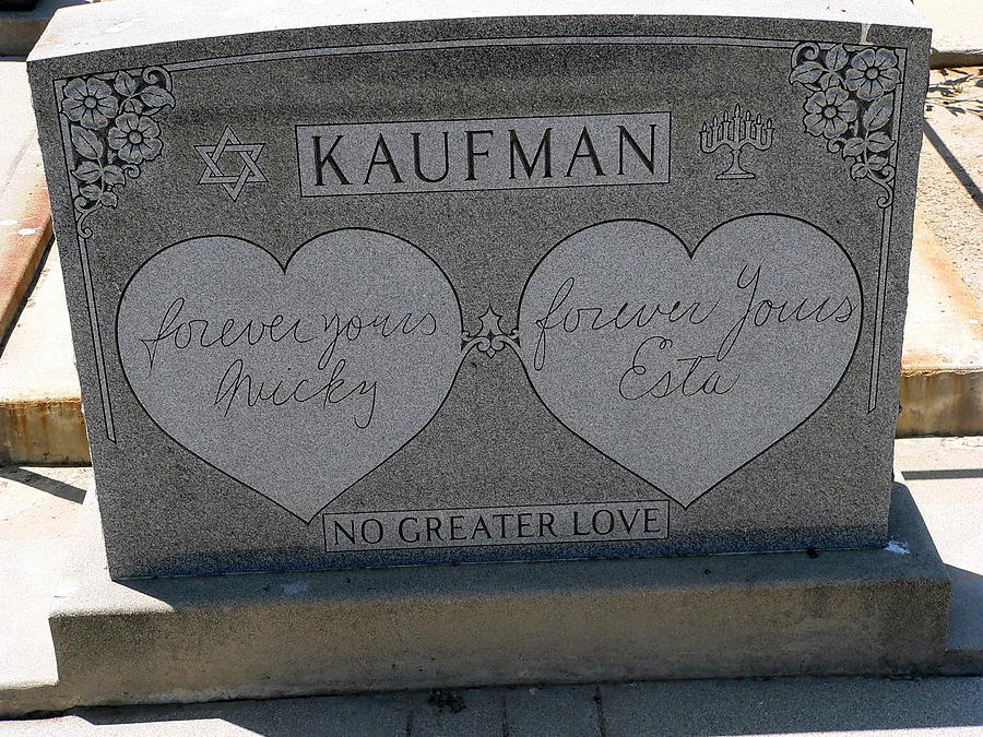 No Greater Love Photograph - Kaufman Grave No Greater Love by Jeff Lowe
