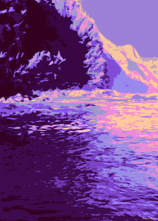 Tropical Interior Design Digital Art - Kauluwela Moku 61 by Kenneth Grzesik