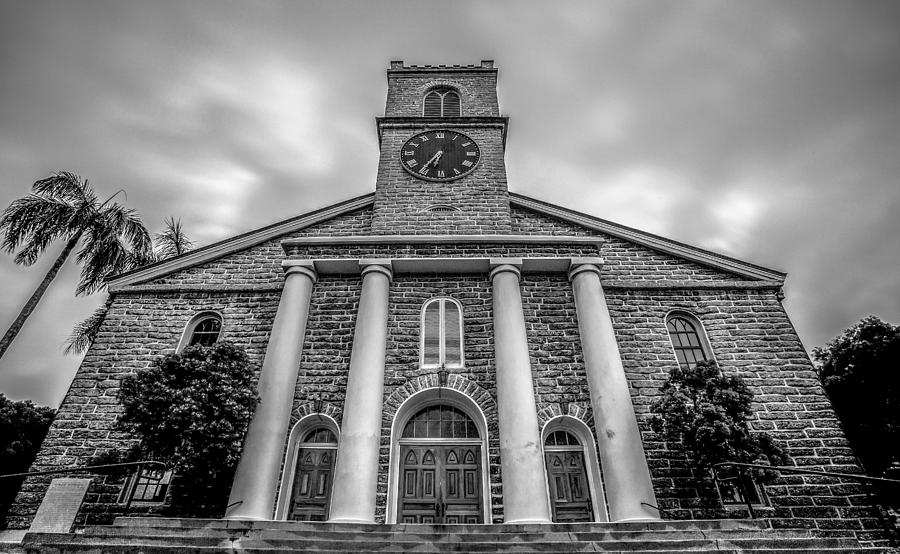 Black And White Photograph - Kawaiaho Church  by Robert  Aycock