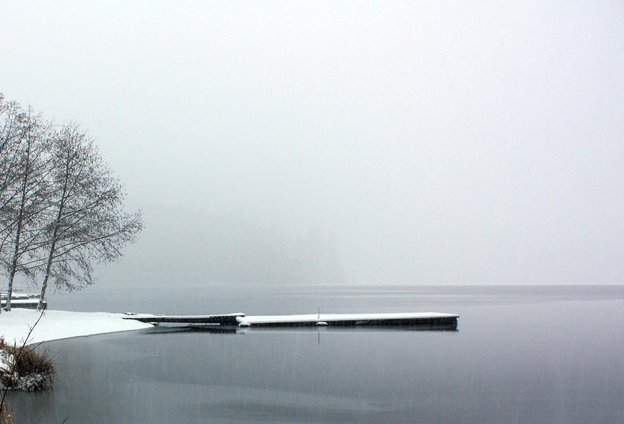 Kawkawa Lake in Winter by Gerry Bates