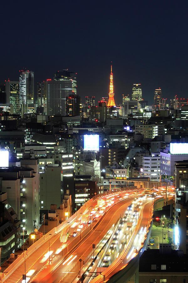 Kayabacho With Tokyo Tower Photograph by Krzysztof Baranowski